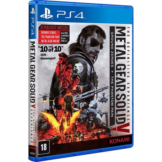 Metal Gear V The Definitive Experienc Ps4 Midia Fisica Novo
