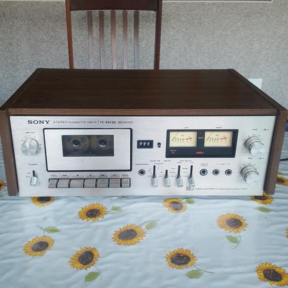 Sony Stereo Cassette Deck Tc-204 Sd Tapedeck Vintage