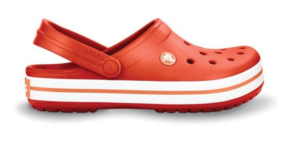 Crocs Originales Crocband Naranja Unisex Hombre Mujer