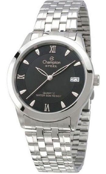Relógio Feminino Champion Prateado Visor Preto Ca20581t