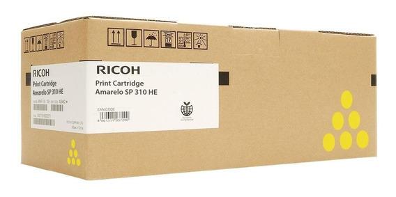 Cart Toner Ricoh Sp C310 Amarelo Original 406478
