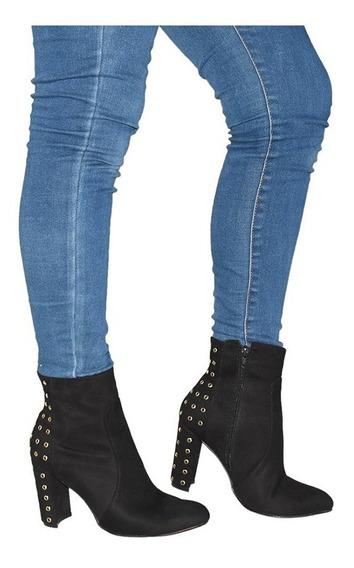 Zapatos Botin Para Mujer Dama Tacon Colores Modelos Diseño Calidad -03