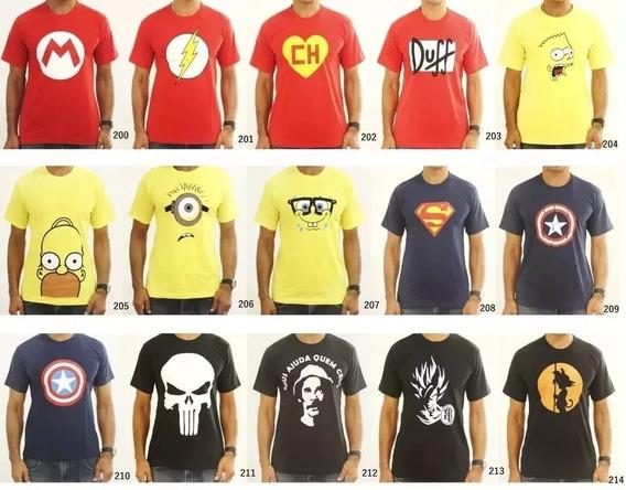 Camiseta Masculina Kit Com 100 Peças