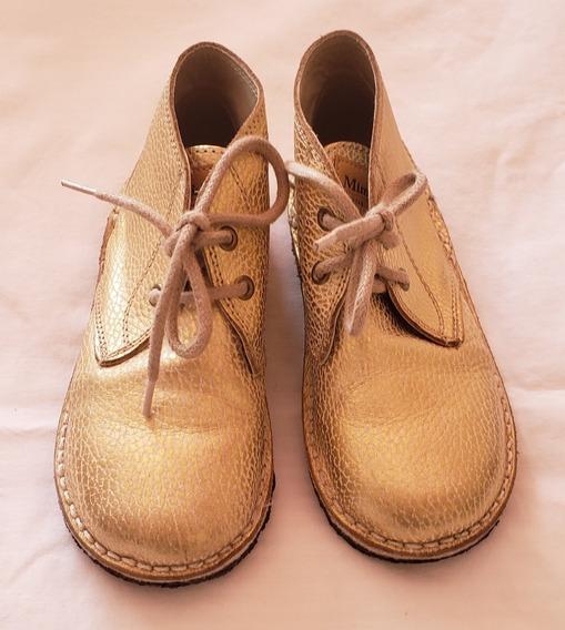 Botitas Zapatos Mimo Numero 29 Dorados