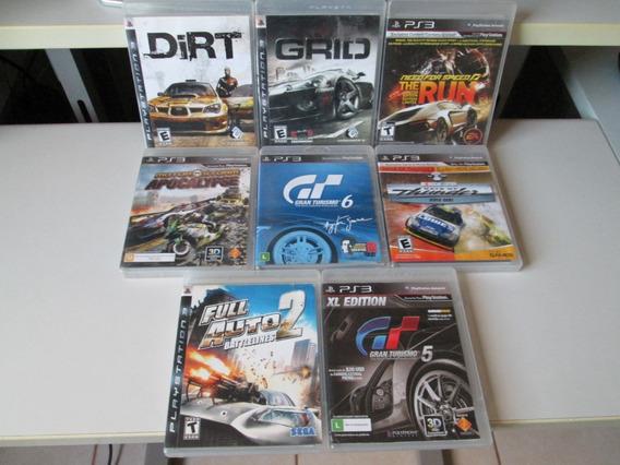 Playstation 3 Combo De 8 Jogos De Corrida