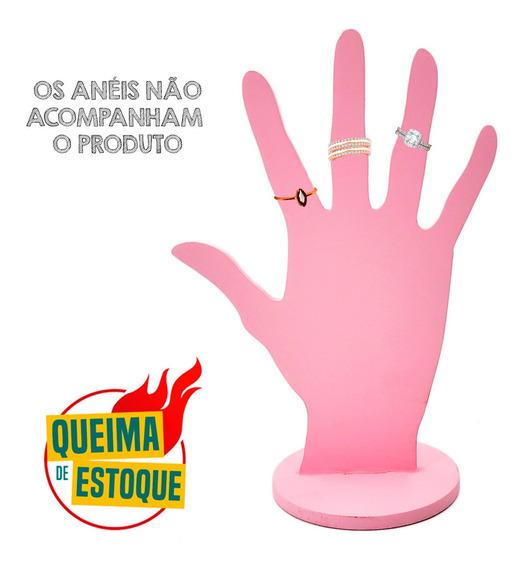 Expositor Mão Para Anéis Mdf Decorado Na Base Enfeite Queima