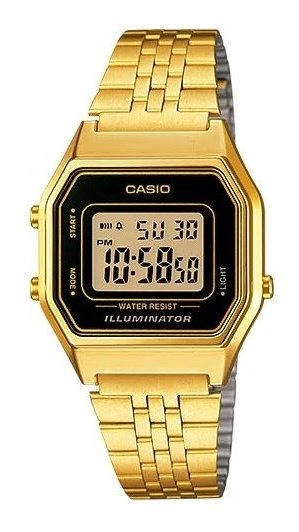 Relógio Casio F Cx E Puls Metal Aço Qz - La680wga-1