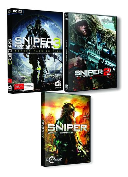 Sniper Ghost Warrior 1 + 2 + 3 + Sniper 4 Pc Dvd Frete 8 R$