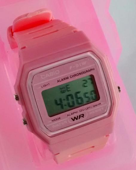 Relógio Digital Feminino Rosa Tipo Retro Vintage