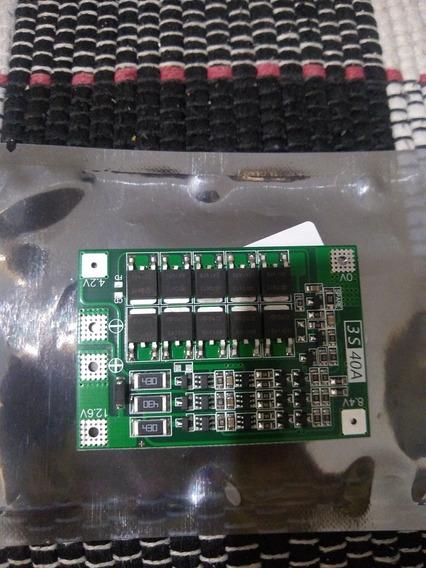 Placa De Proteção Bms 3s 40 A Baterias De Lítio.