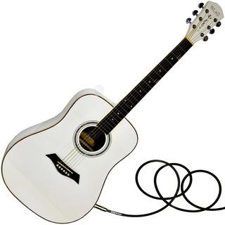 Guitarra Electroacustica Blanca Jumbo Superior Lujo Dame