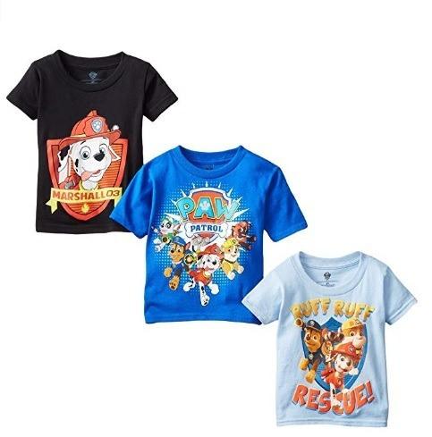 Nickelodeon Playeras De Paw Patrol, Niños 3 Pzas Talla 3