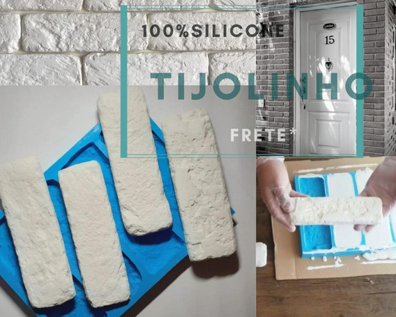 Forma Molde Silicone Gesso 3d - Modelo Tijolinho Brick