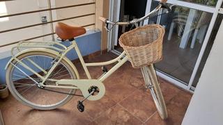Bicicleta Vintage Dama !! Con Canasto De Mimbre!!