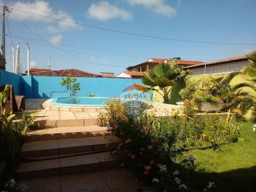 Casa Com 3 Dormitórios À Venda, 170 M² Por R$ 160.000 - Extremoz - Extremoz/rn - Ca0240