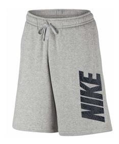 Bermuda Short Moletom Nike Crusader Cinza 100% Original -