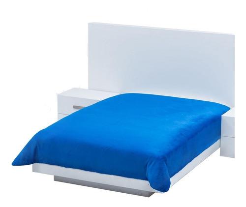 Imagen 1 de 1 de Cobertor Colchas Concord Cobertor ultrasuave Matrimonial liso/Azul