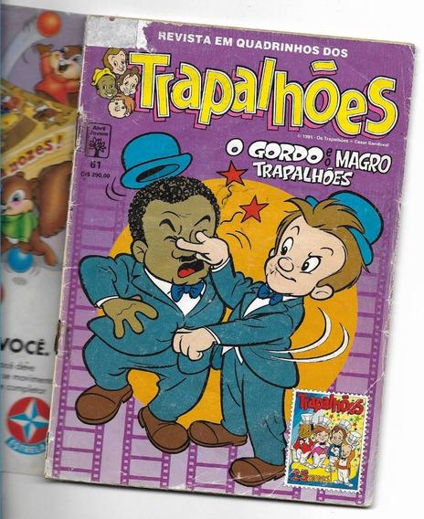 Gibi Os Trapalhões Nº 61 - O Gordo E O Magro ( Abril-1991 ).