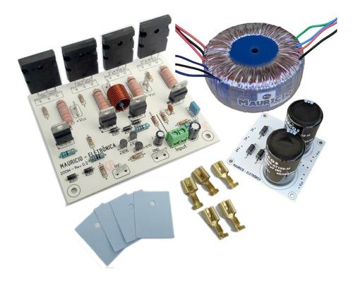 Placa Amplificador De Audio 200w Rms + Fonte Completa