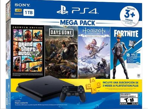 Playstation Ps4 - 4 Juegos - 1tb - 2 Controles - 8096275036