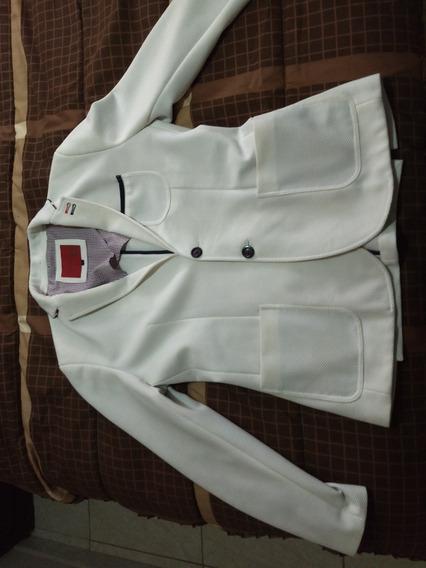 Saco Color Blanco Para Caballero