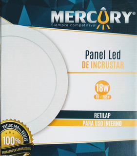 Panel Led 18w X10 Redondo Incrustar Luz Blanca
