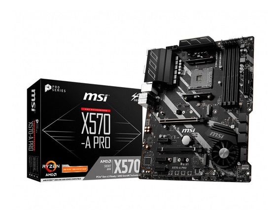 Motherboard Msi X570-a Pro Amd Am4 Ddr4 Ryzen 3000 Acuario