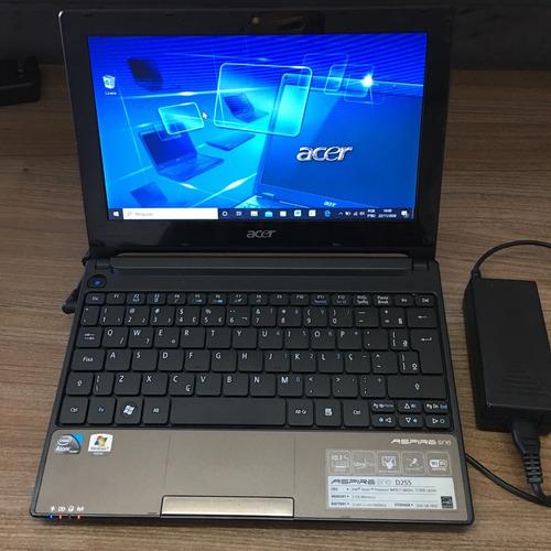 Notbook Acer Aspire One D255 Com Ssd 240gb Funcionando R.136