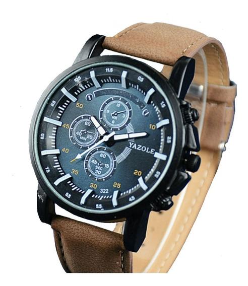 Relógio Masculino Luxo Quartzo Pulso Yazole Barato