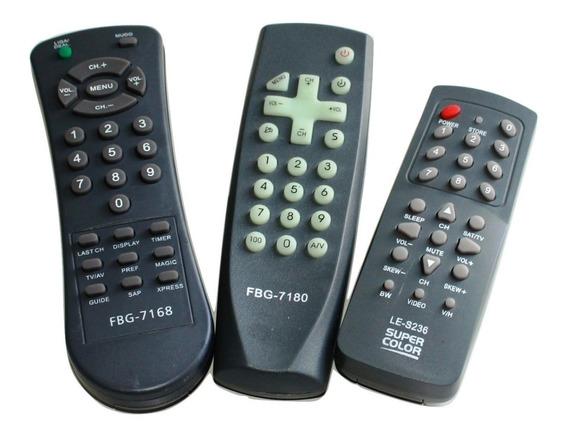 Kit 100 Controles De Televisão Modelo Antigo Atacado Lojas