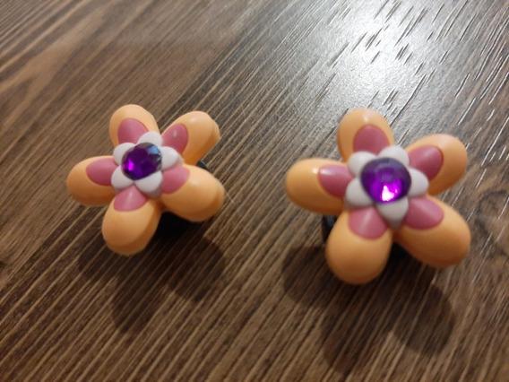 2 Charms Jibbitz De Flores Naranjas