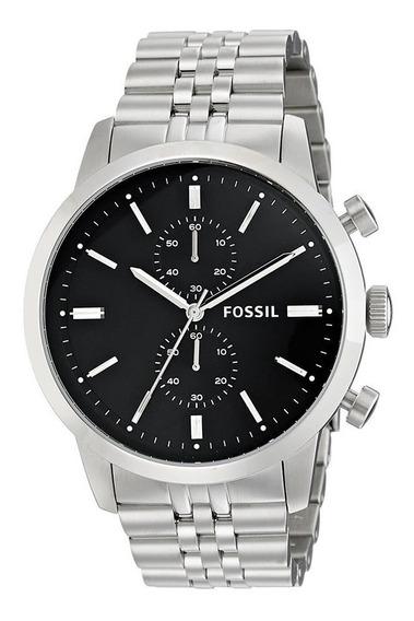 Relógio Fossil Masculino Fs4784/1pn Cronografo Prateado