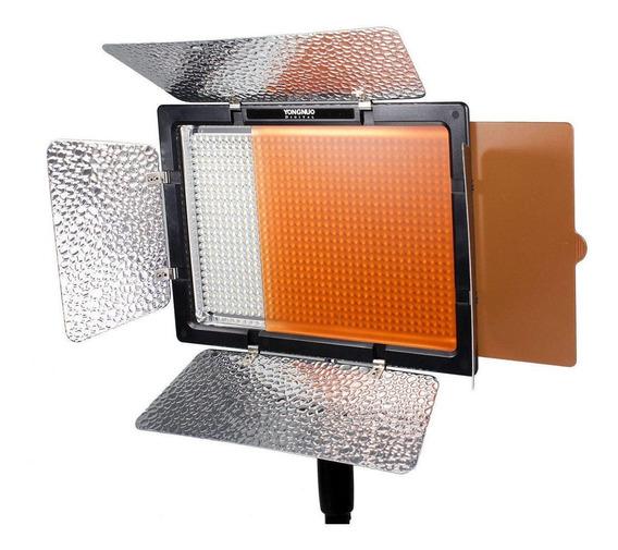 Luz contínua Yongnuo YN600L II tipo painel cor branca quente e fria
