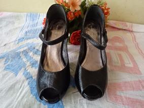 Sandália Scarpan Khelf Meia Pata Salto 11cm N. 35- Detalhe