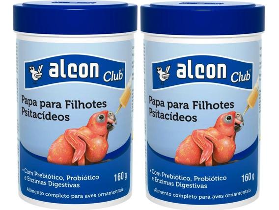 Kit C/2 Alcon Club Papa P/ Filhotes Papagaio Arara Calopsita
