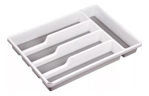 Organizador De Cubiertos Cubiertero Plástico Blanco P/ Cajon