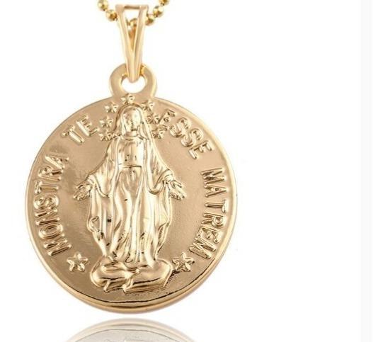 Medalla Virgen Milagrosa Oro Laminado 18k