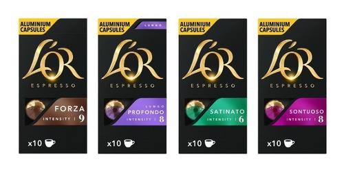 Cápsulas Nespresso Compatibles Café L'or - Pack 4 Cajas