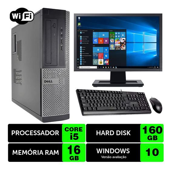 Computador Barato Dell Optiplex Int I5 2g 16gb 160gb Mon17w