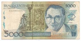 Brasil - C-195, 5.000 Cruzados, 1988, Série 0268, Mbc - Rara