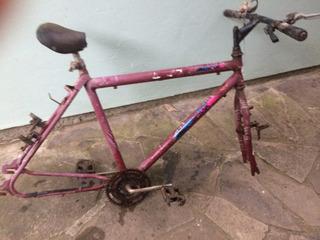 Quadro Bike Mtb De Ferro Aro 26 Pe De Vela/garfo/guidão