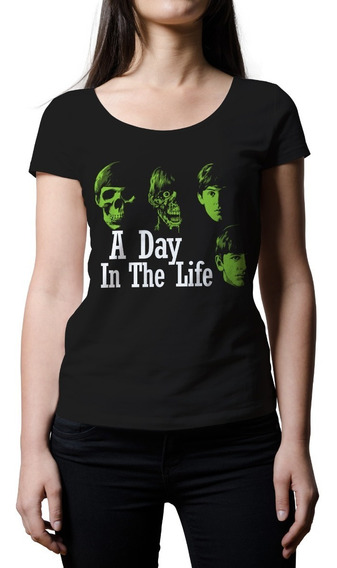 Remera Mujer Rock The Beatles A Day In The Life B-side Tees