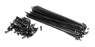 36 Rayos Reforzados Negros Para Bmx - ¡más Sus 36 Niples!