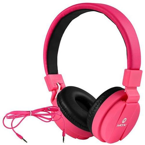 Audifono Para Celular Mox Ajustable Rosa Nuevo