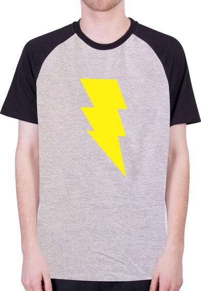 Camisa Raglan - Herois Dc Comics - Shazam - 100% Algodão!!