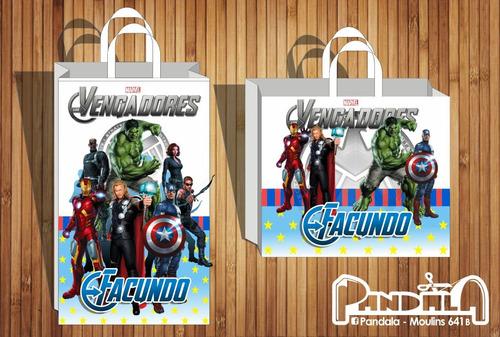 Bolsitas De Sorpresitas Vengadores Avengers Superhéroes X10