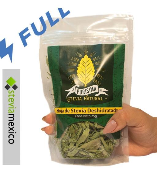 Hojas Entera De Stevia Orgánica Bolsa Pet Con 30g -envío Ful