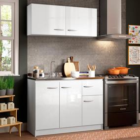 Cozinha Compacta Madesa Isabel Com Armário E Balcão