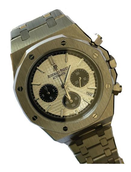 Reloj Audemars Piguet Royal Oak Plateado Cara Blanca/azul