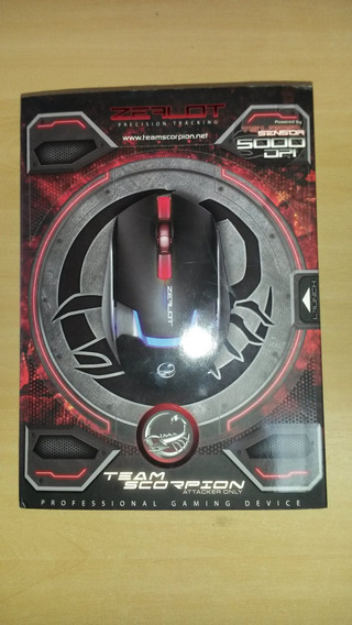 Mouse Usb Gamer Laser Team Scorpion Zealot 48791 C/ Detalhes